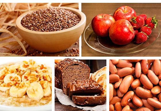 «Лучшие источником углеводов - это продукты с низким гликемическим индексом: гречка, фасоль макароны и хлеб из твердых сортов пшеницы».