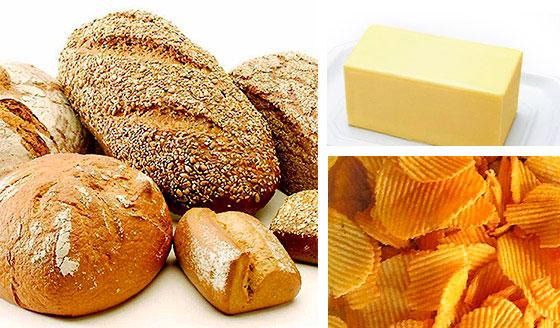 Продукты содержащие углеводы и жиры