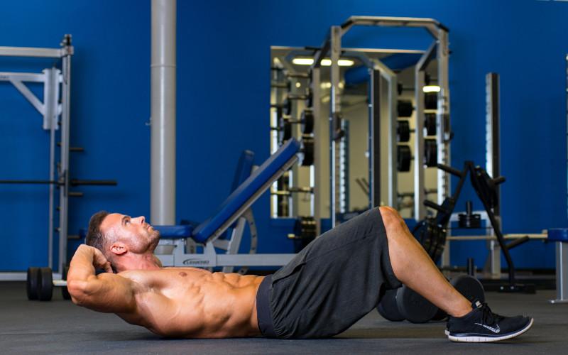 Тренировка на массу - упражнение скручивания