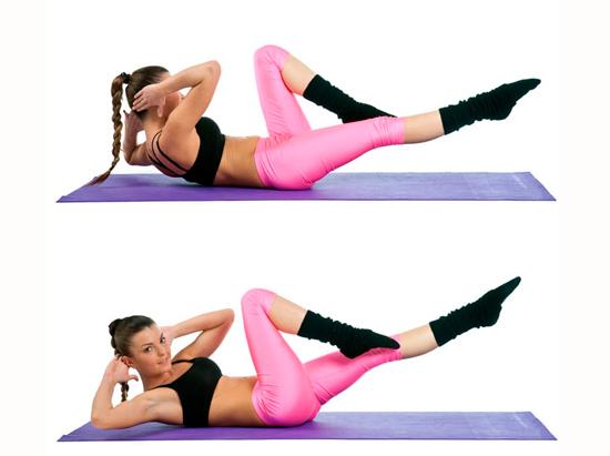 Упражнение в картинках на бока в домашних условиях