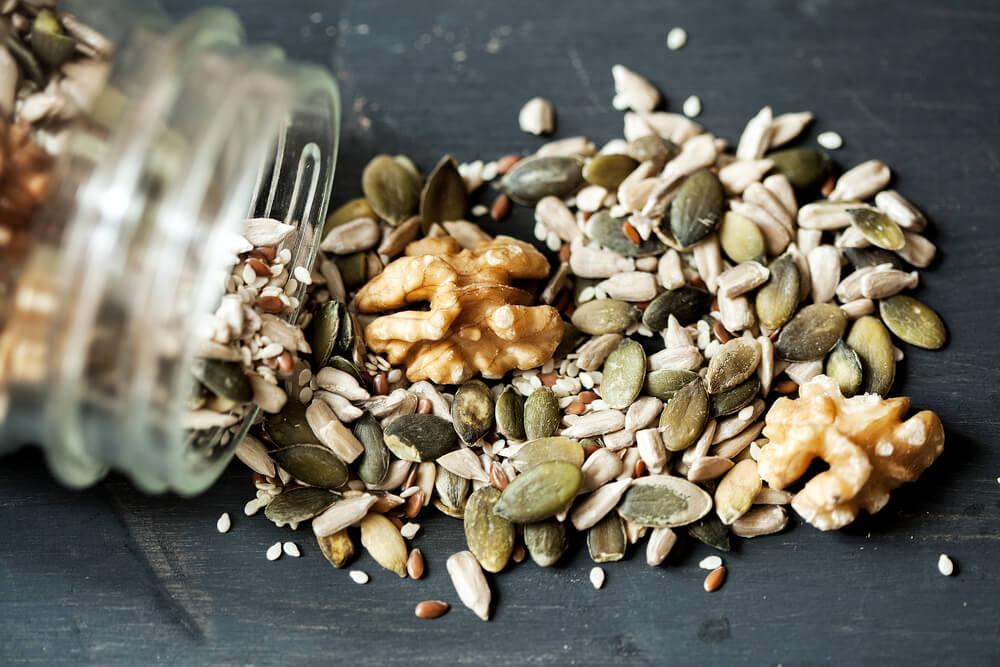 орехи и семечки для роста мышц