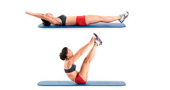 Упражнение складочка